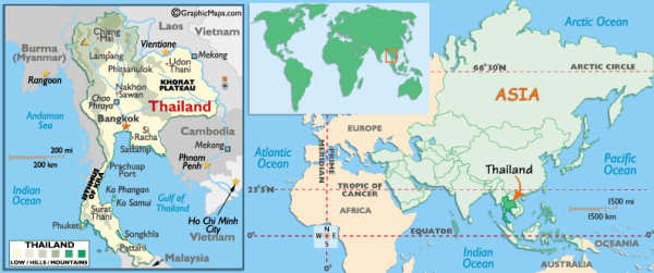 Where is Thailand - Map