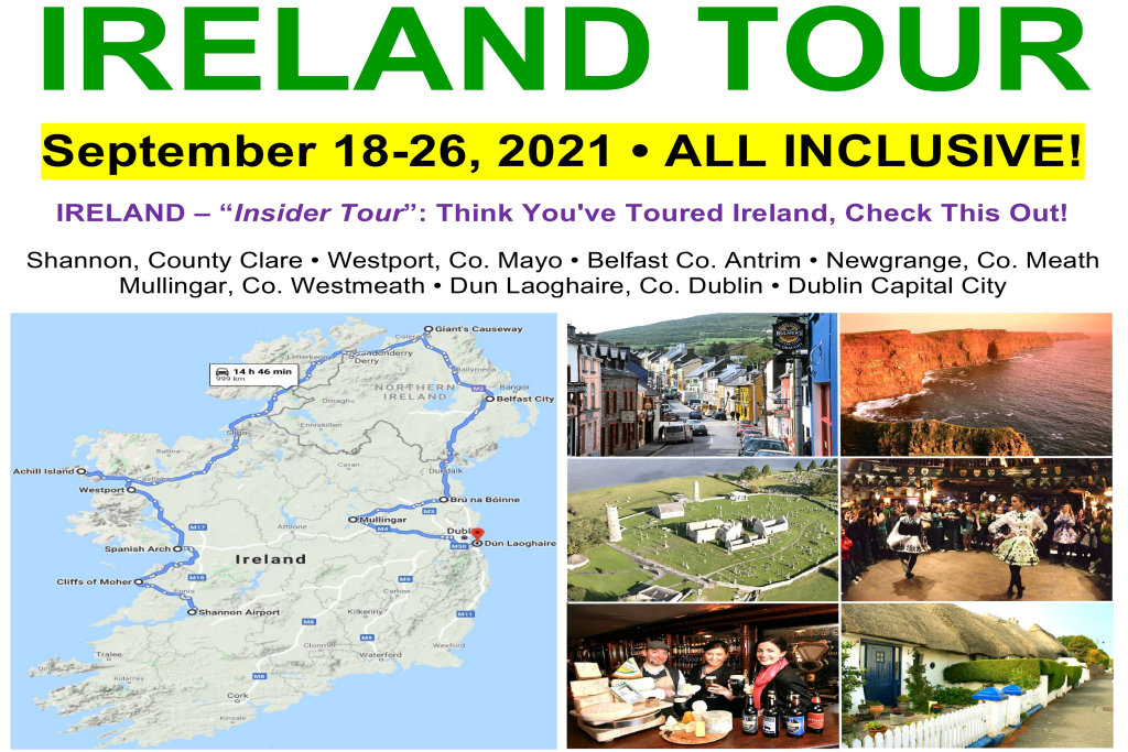 Ireland Insider Tour - Sightseeing: Sep. 18-26, 2021